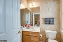 Convenient main level powder room - 43725 COLLETT MILL CT, LEESBURG
