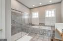Oversized walk-in shower and soaking tub - 43725 COLLETT MILL CT, LEESBURG