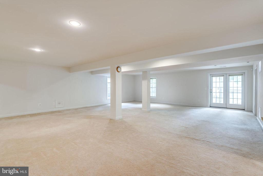 Finished lower level has carpet and recessed light - 43725 COLLETT MILL CT, LEESBURG