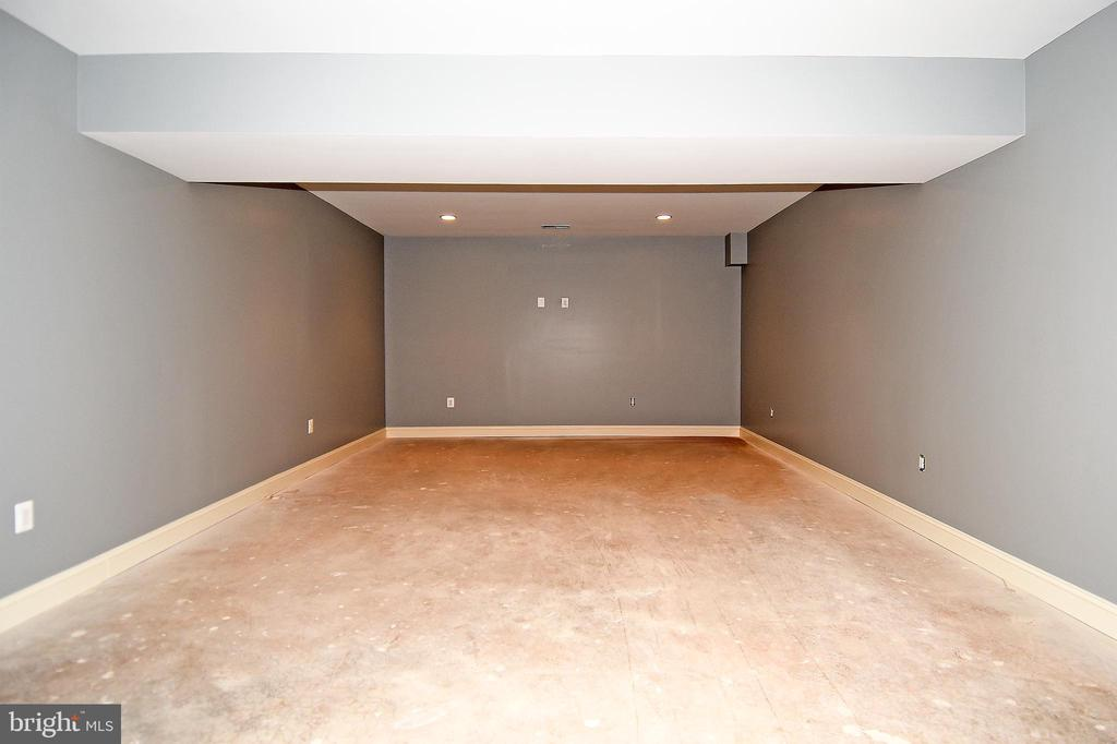 Basement Theatre room - 120 KINGSLEY RD SW, VIENNA