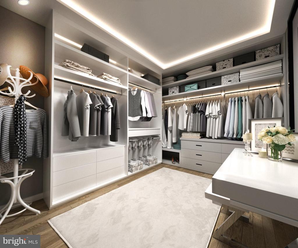 Master Built-In Closet - 5706 NEVADA AVE NW, WASHINGTON