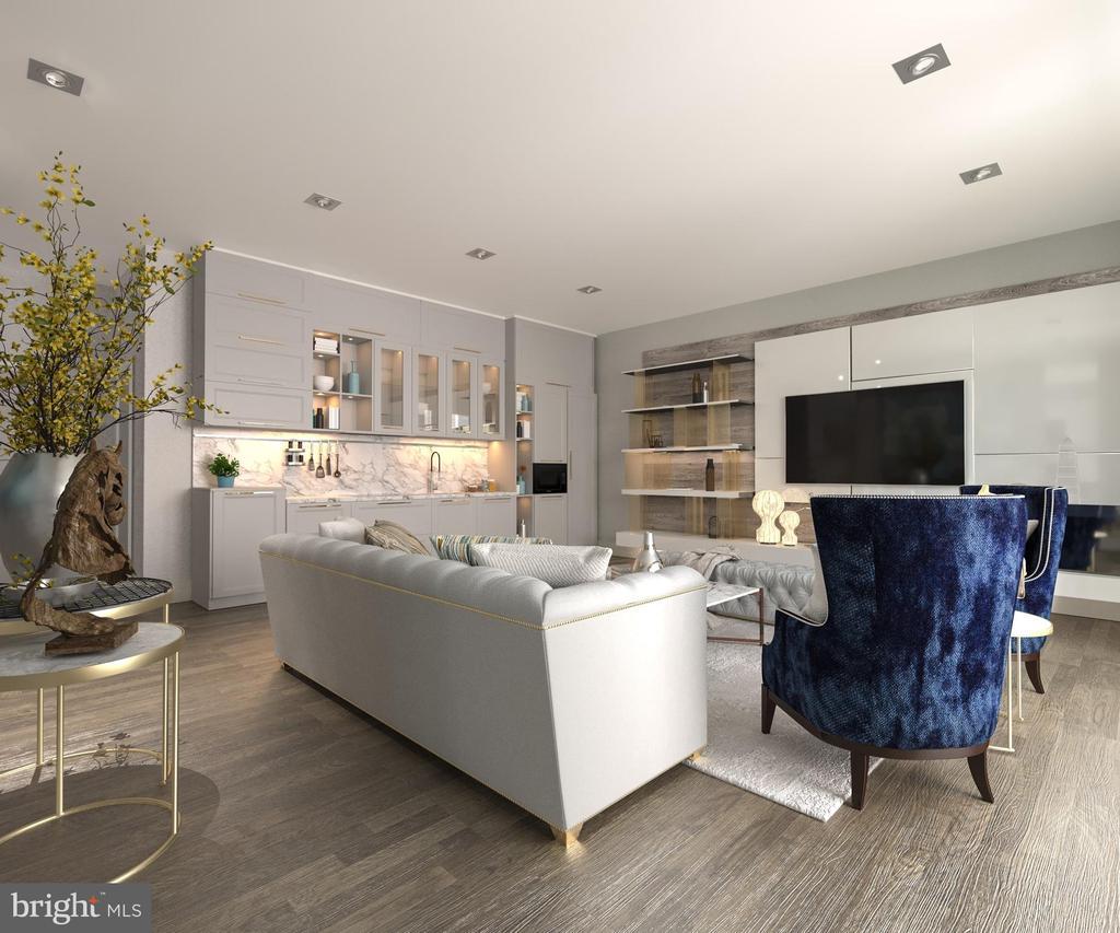 Top Level Entertainment/Leisure Area w/ Wet Bar - 5706 NEVADA AVE NW, WASHINGTON