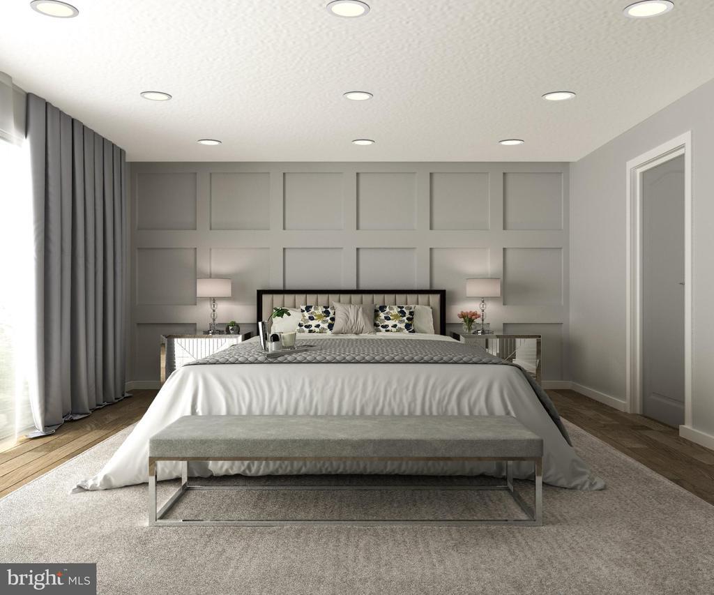 Master Bedroom w/ Private Balcony - 5706 NEVADA AVE NW, WASHINGTON