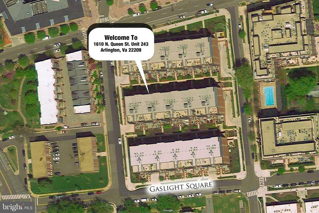 Aerial View - 1610 N QUEEN ST #243, ARLINGTON