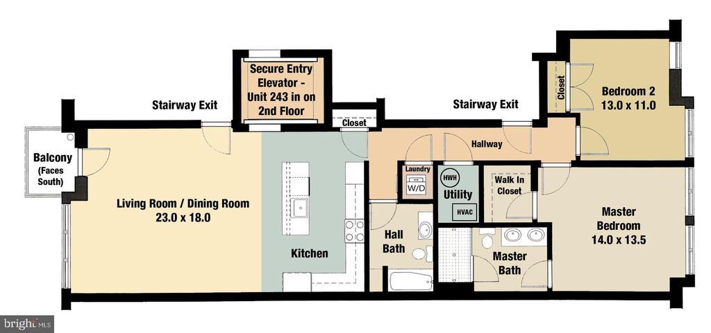 Floorplan - 1610 N QUEEN ST #243, ARLINGTON