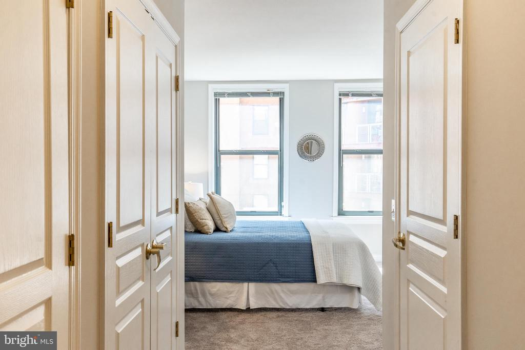 Multiple Walk-in Closets leading to Master Bedroom - 616 E ST NW #655, WASHINGTON
