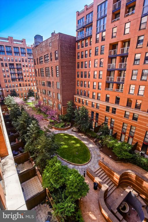 Master Bedroom Overlooks Quiet Lush Courtyard! - 616 E ST NW #655, WASHINGTON
