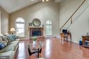 Family Room w/ Vaulted Ceiling - 43755 CRANE CT, ASHBURN