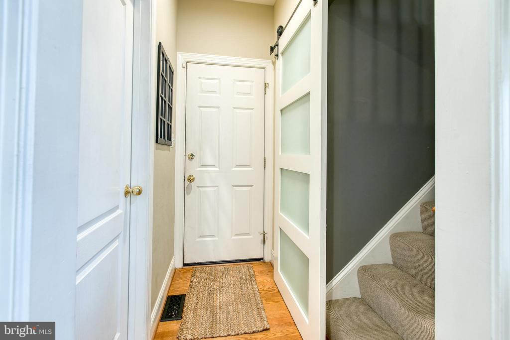 Barn door for the back stairs - 36 PELHAM WAY, STAFFORD