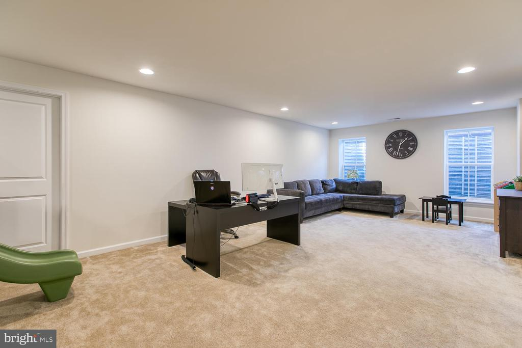 Lower level rec room in basement - 301 PEAR BLOSSOM RD, STAFFORD