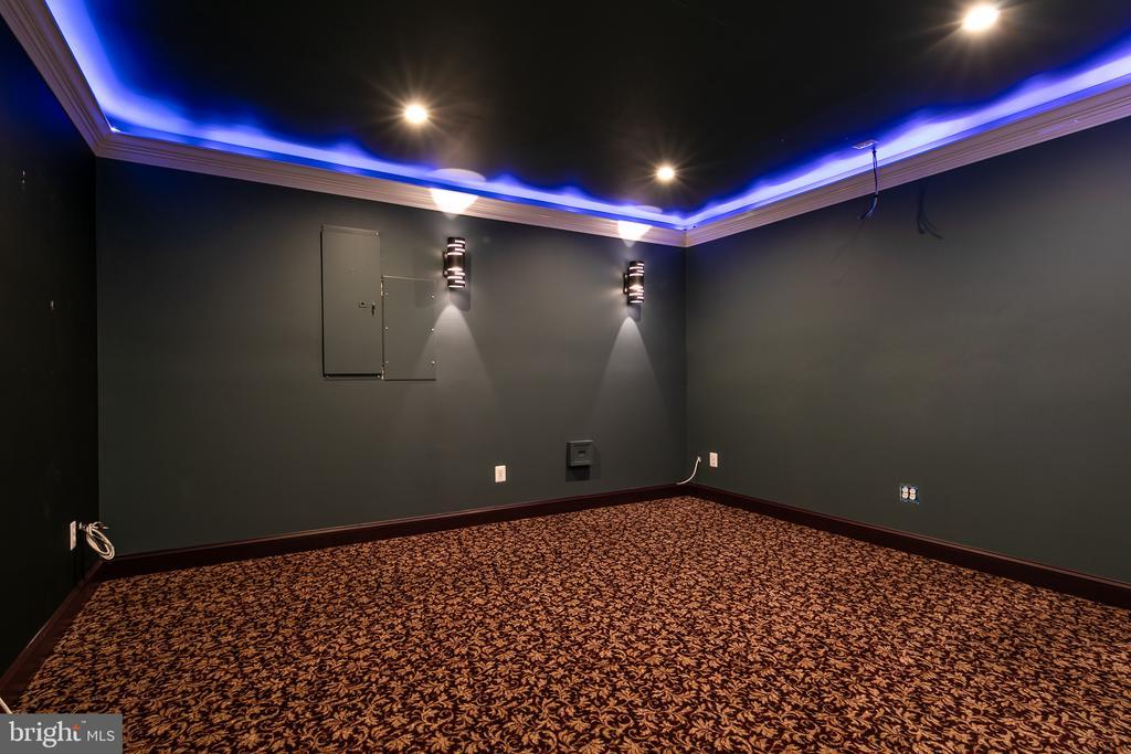 Basement Media Room - 21109 CARTHAGENA CT, ASHBURN