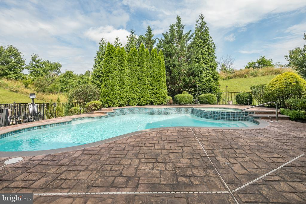 Saline Pool with Elephant Pool Cover for Safety - 21109 CARTHAGENA CT, ASHBURN