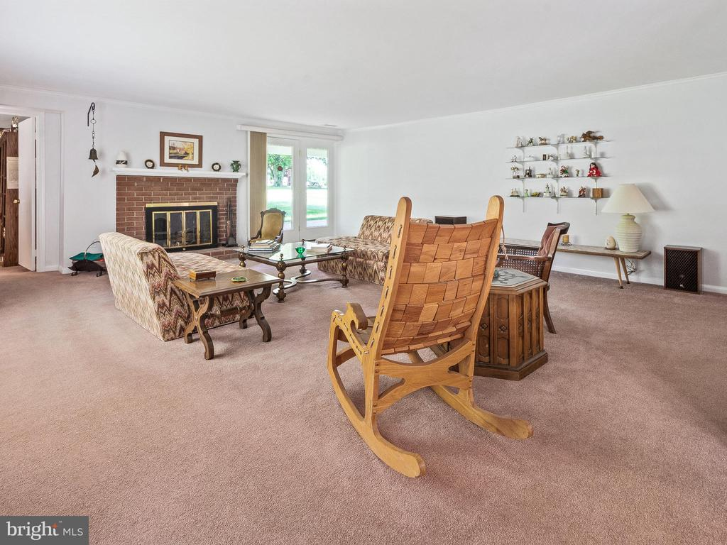 Living Room with Fireplace - 4315 ALDIE RD, CATHARPIN