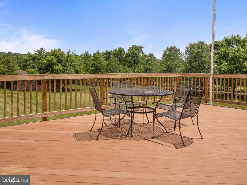 Rear Deck off Family Room - 4315 ALDIE RD, CATHARPIN
