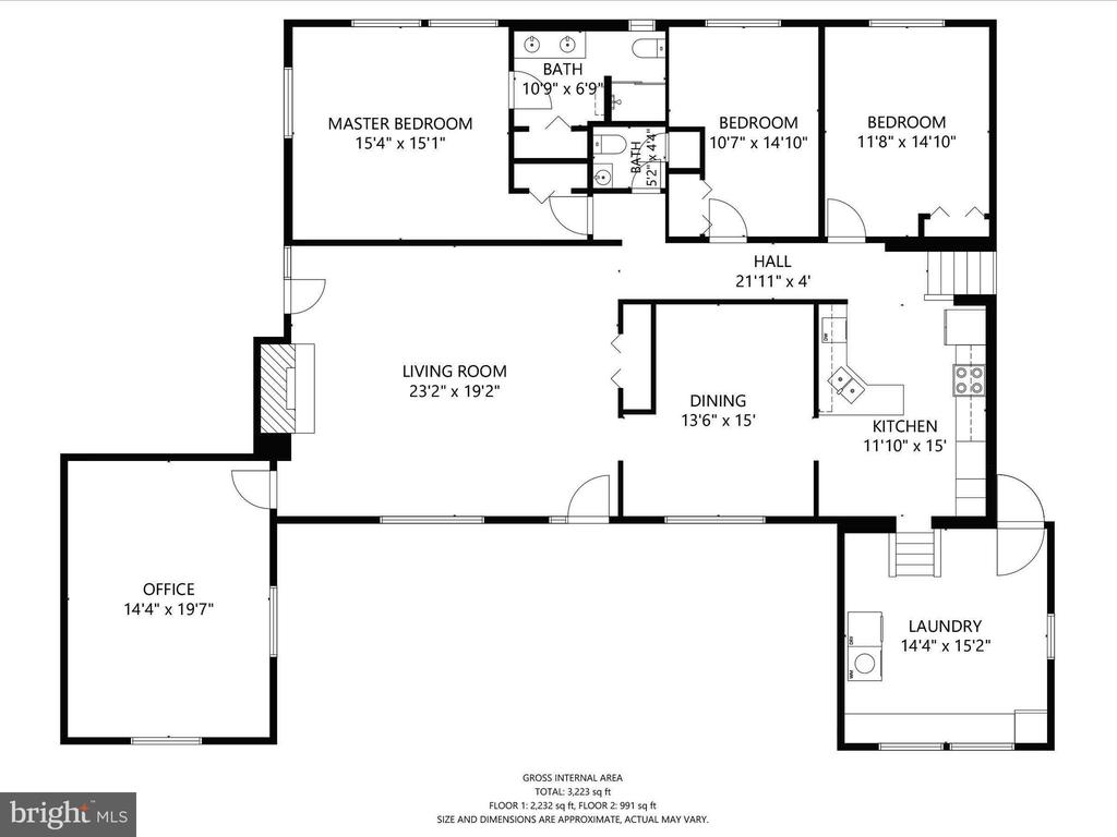 Main Level Floor Plan - 4315 ALDIE RD, CATHARPIN
