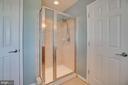 Master bath shower and storage! - 38 JANNEY LN, FREDERICKSBURG