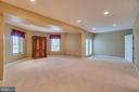Large basement rec room! - 38 JANNEY LN, FREDERICKSBURG
