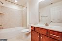 full bath in basement - 1024 W KENSINGTON CIR, FREDERICKSBURG