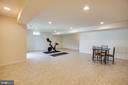 recreation room in basement - 1024 W KENSINGTON CIR, FREDERICKSBURG