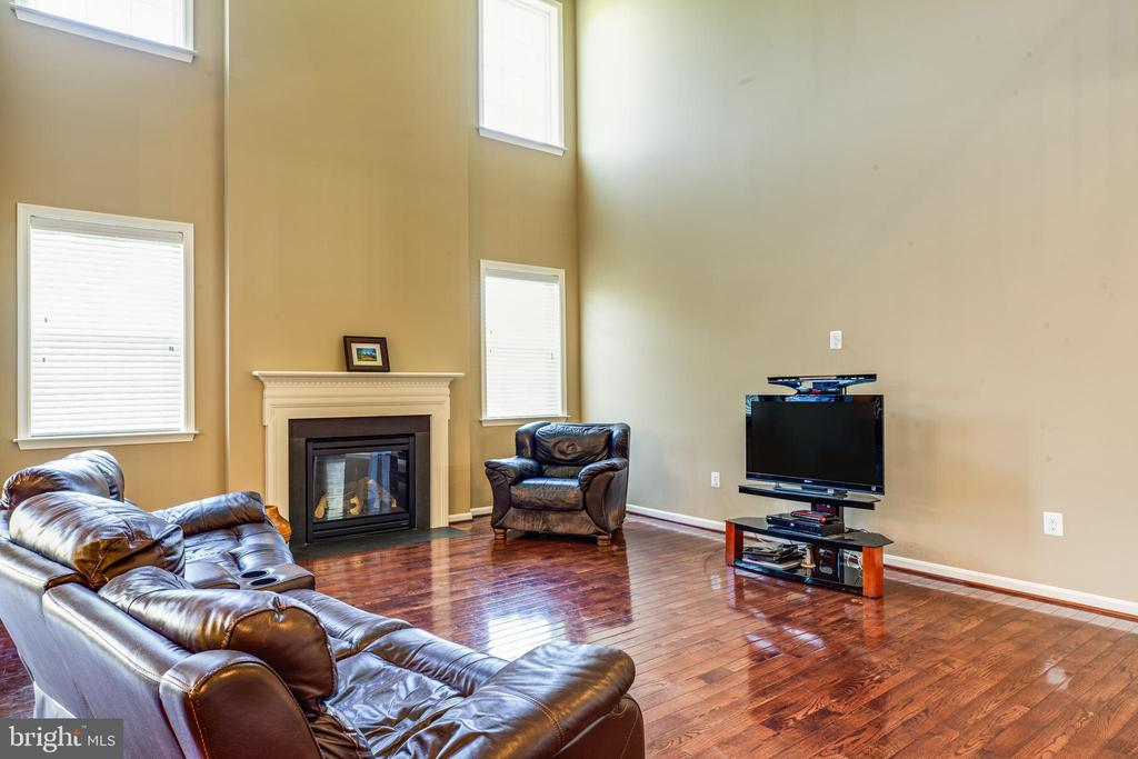 family room with gas fireplace - 1024 W KENSINGTON CIR, FREDERICKSBURG