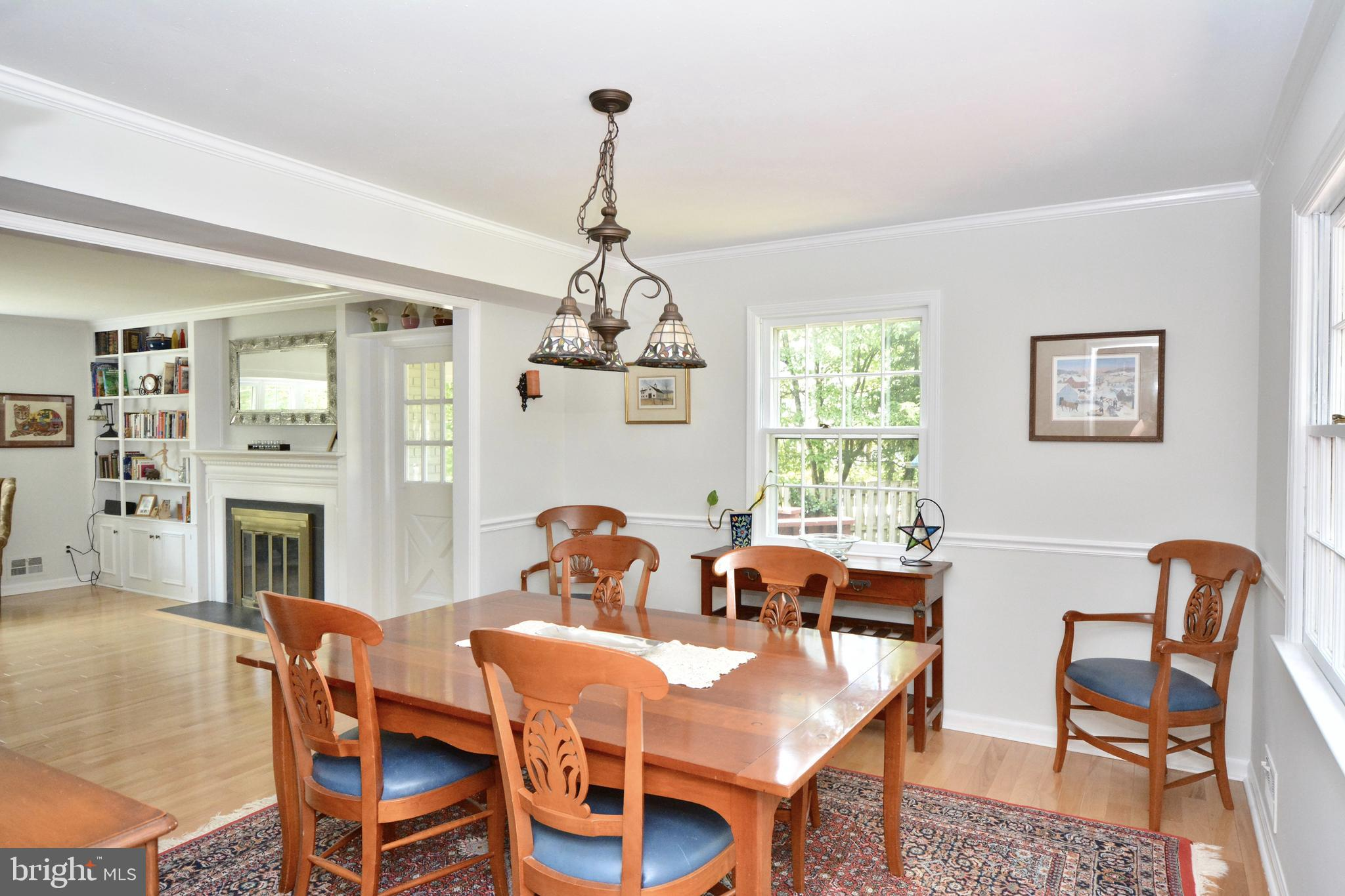 Formal dining room off living room and kitchen.