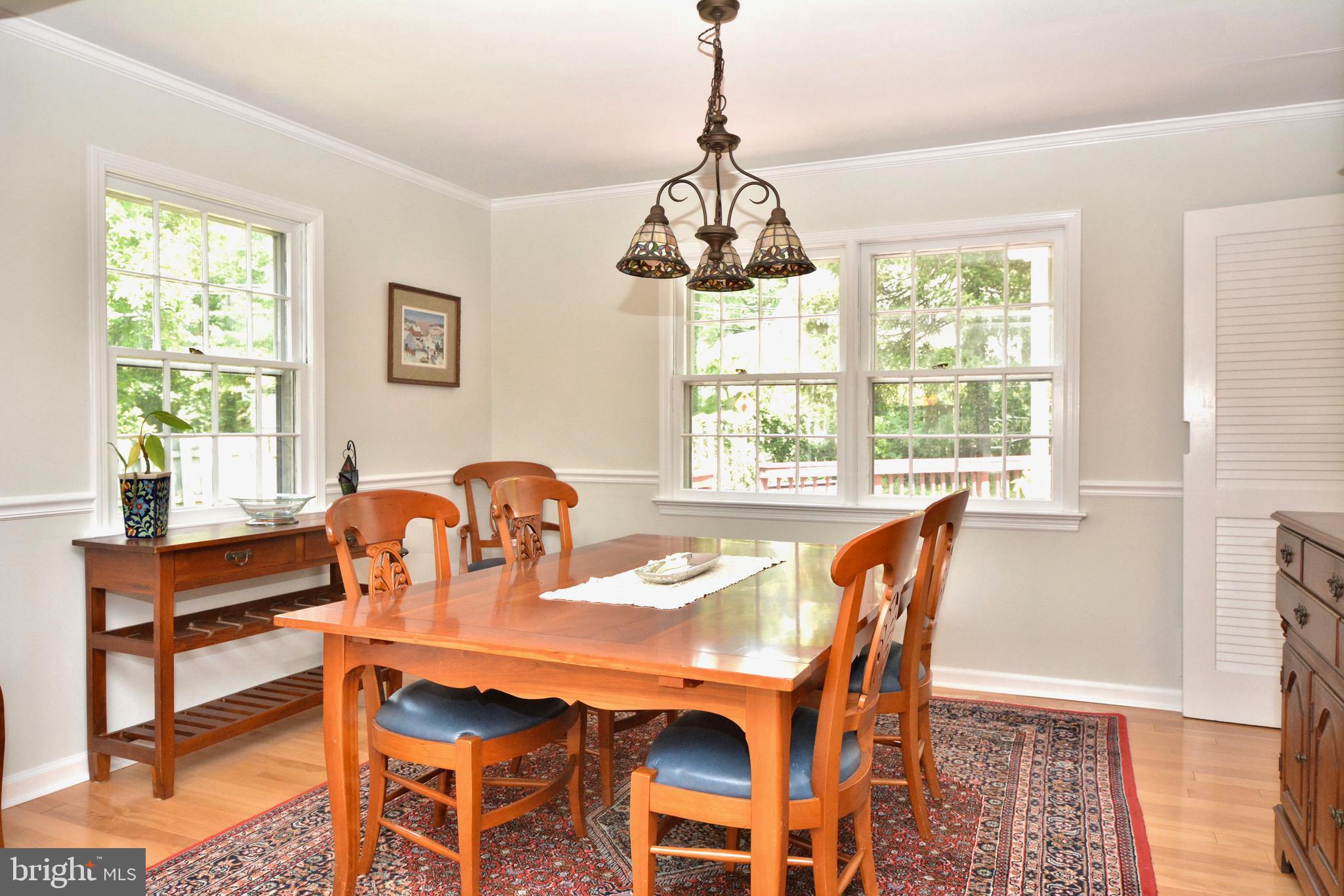Formal dining room off kitchen.