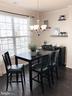 Dining Room w/Chandelier and Crown Molding - 43047 STUARTS GLEN TER #105, ASHBURN