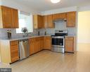 Kitchen w New Granite Countertop  to Formal DR - 8232 EMORY GROVE RD, GAITHERSBURG
