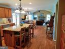 Kitchen with Granite - 19187 SWAN CT, PURCELLVILLE