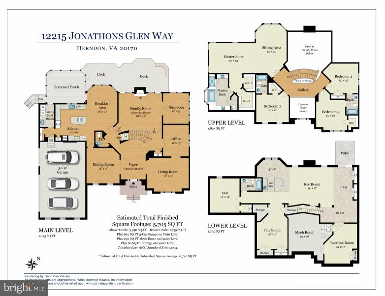 Floor Plan - 12215 JONATHONS GLEN WAY, HERNDON