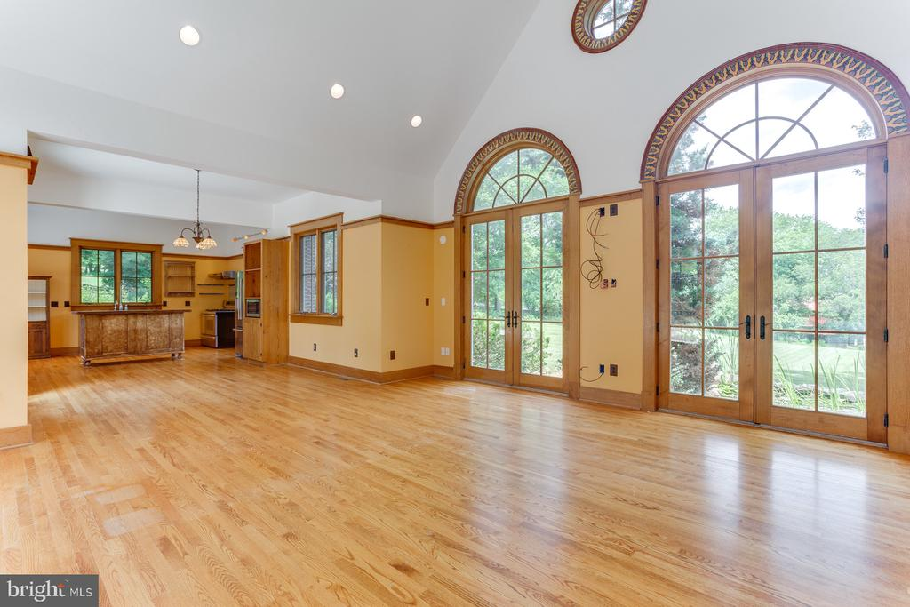 Great Room Walls of French Doors - 16001 OLD WATERFORD RD, PAEONIAN SPRINGS