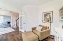 French doors separate library for quiet - 6218 30TH ST N, ARLINGTON