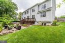 deck leads to stone patio and landscaped rear yard - 6218 30TH ST N, ARLINGTON