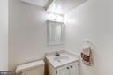 Half Bath - Lower Level - 2424 S WALTER REED DR #3, ARLINGTON