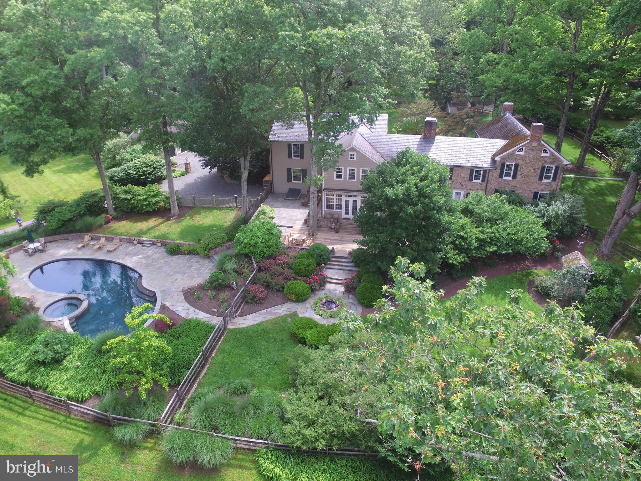 This estate offers so much including trail access.