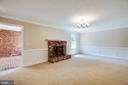 family room with wood burning fireplace - 160 DEACON RD, FREDERICKSBURG