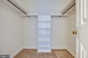 master bedroom walk in closet - 160 DEACON RD, FREDERICKSBURG