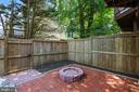 patio/fenced yard - 8 CEDARWOOD CT, NORTH BETHESDA