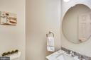 main level half bath - 8 CEDARWOOD CT, NORTH BETHESDA