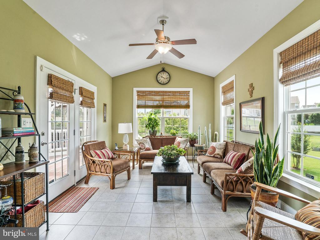 1st Floor Sun Room from Nook area. Opens to Deck - 14430 HAMILL RUN DR, GAINESVILLE