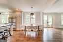 built-in banquette and French doors to deck - 6218 30TH ST N, ARLINGTON