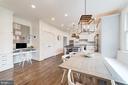 built-in desk and double door pantry - 6218 30TH ST N, ARLINGTON