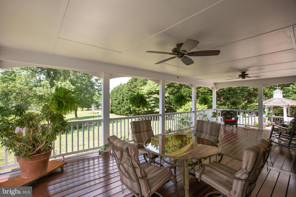 Incredible huge covered  700 SF Porch - 3600 MORNING GLORY RD, BUMPASS