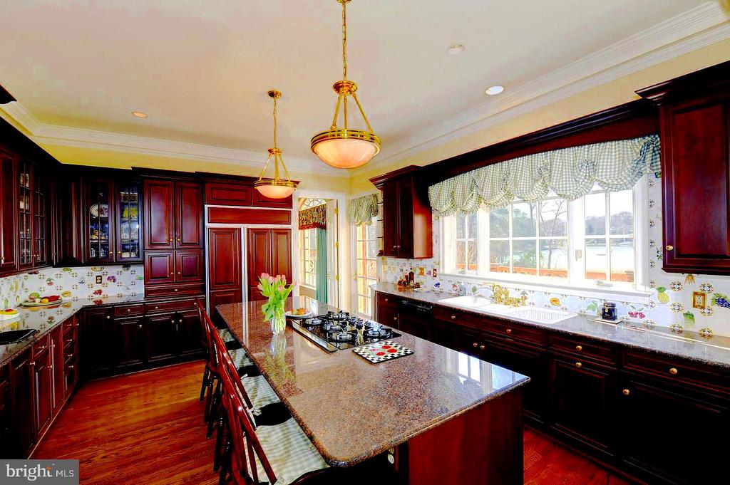 Kitchen Has Great View of Waterfront, Deck Access. - 659 ROCK COVE LN, SEVERNA PARK