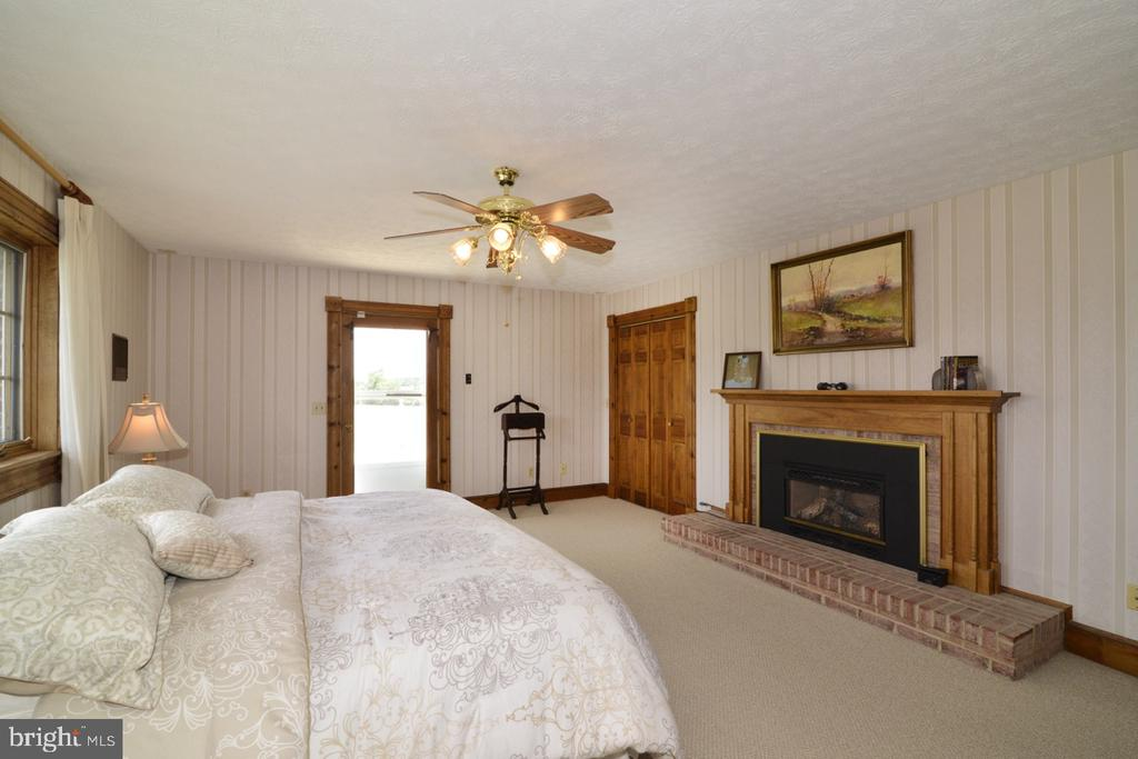 Master Bedroom with a beautiful fireplace - 346 SALEM CHURCH RD, BOYCE