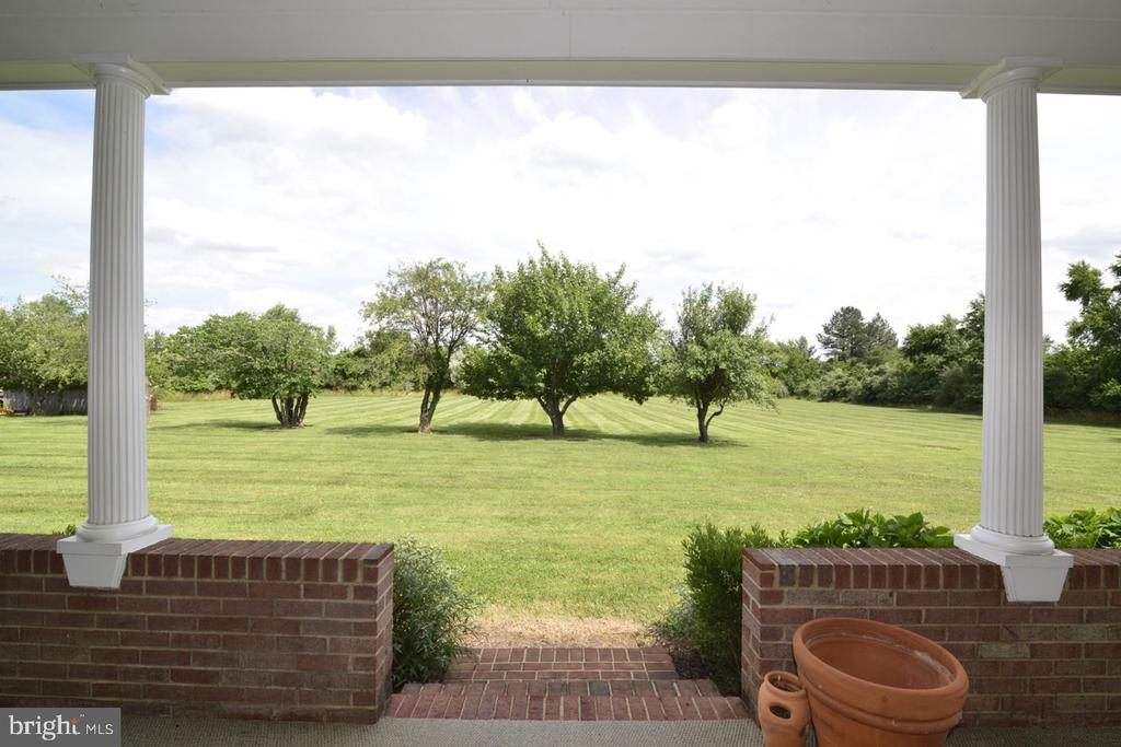 View from the covered porch - 346 SALEM CHURCH RD, BOYCE