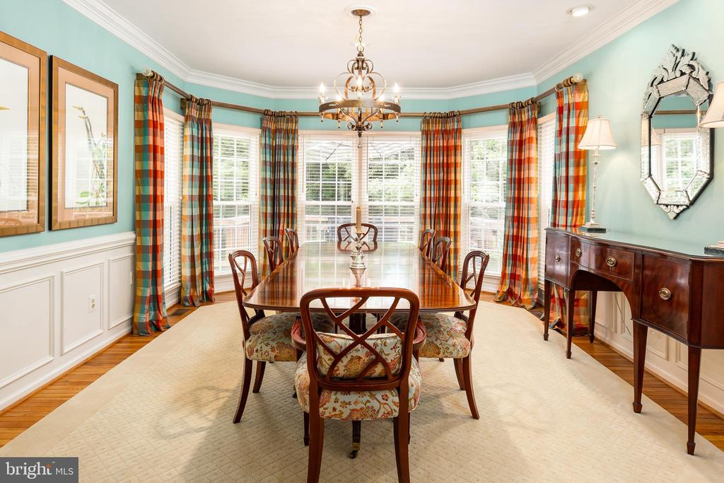 Dining Room with Bay Window View - 10735 BEECHNUT CT, FAIRFAX STATION