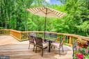 Beautiful Wooded Views off Deck - 10735 BEECHNUT CT, FAIRFAX STATION
