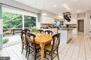 Breakfast Room with Sliding Glass Doors to Deck - 10735 BEECHNUT CT, FAIRFAX STATION