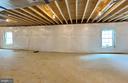 Unfinished basement with 2 egress windows - 3 CLARA MAE COURT, ROUND HILL